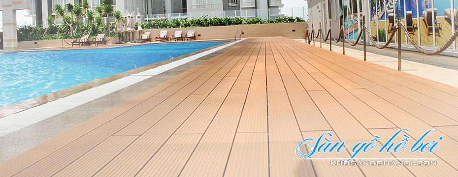 sàn gỗ bể bơ - sàn gỗ hồ bơi